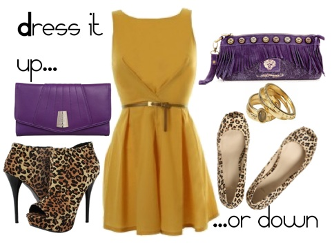 Adding a touch of purple to Olivia Palermo s gold dress - Southern Flair 016d99473