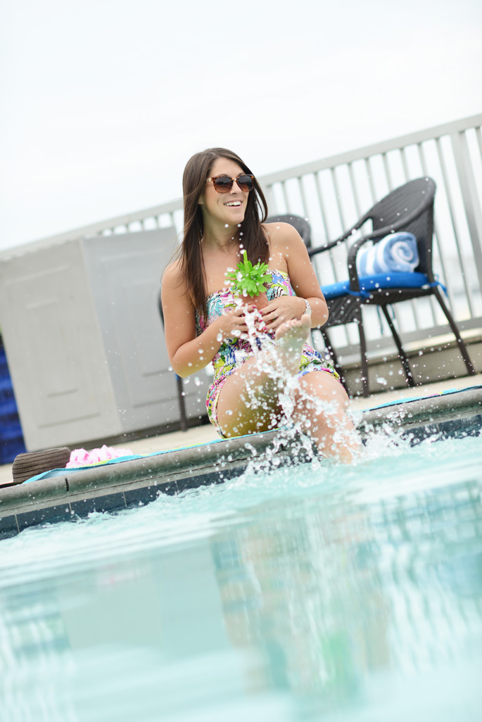 Poolside Floral Romper from The Mint Julep Boutique | Southern Flair
