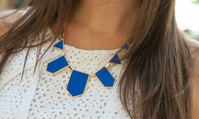 Royal Blue Statement Necklace from Rocks Box | Southern Flair
