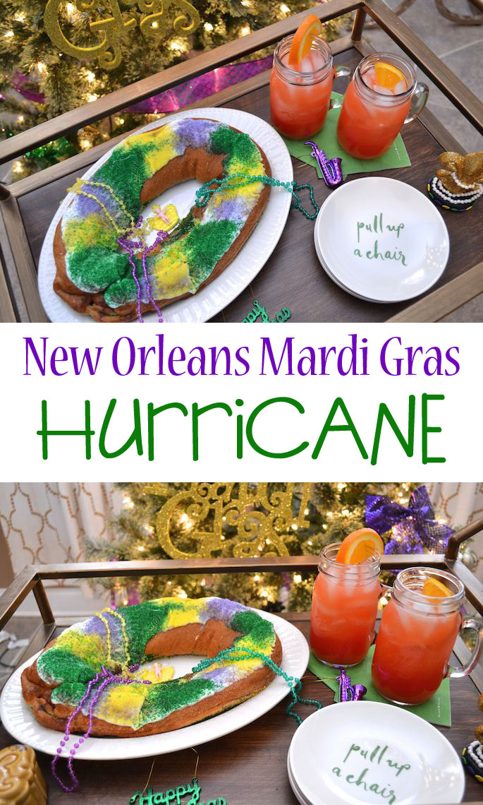 New Orleans Mardi Gras Hurricane Cocktail Recipe