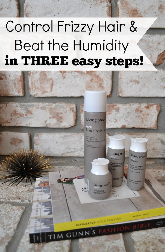 Control frizzy hair and beat the humidity in these three easy steps! Plus, three bonus styling tips included!