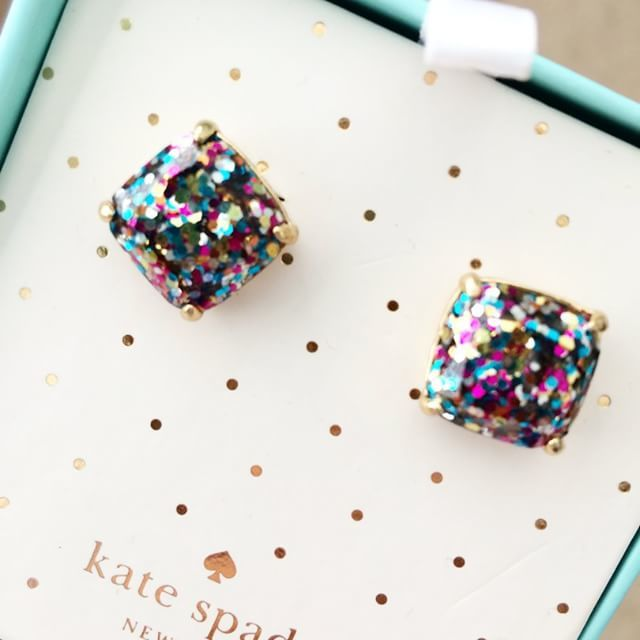 f39c34d25 Kate Spade Glitter Studs are back in stock and on sale! - Southern Flair
