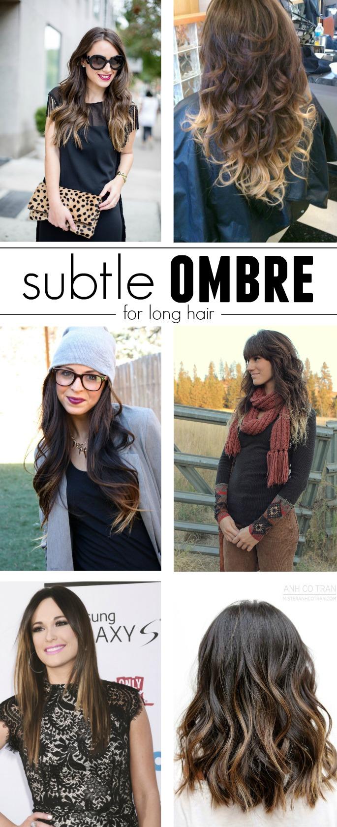 Subtle Ombre for Long Hair