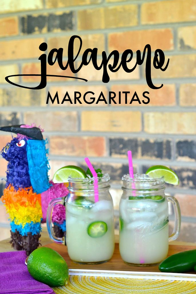 Try these fresh lime and jalapeño margaritas just in time for Cinco de Mayo! Just 5 ingredients -- simple and delicious!