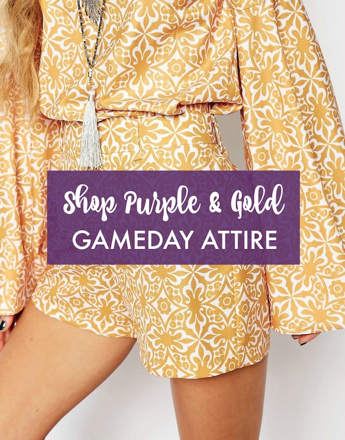 Shop Purple and Gold LSU Game day Attire -- Football season is right around the corner!