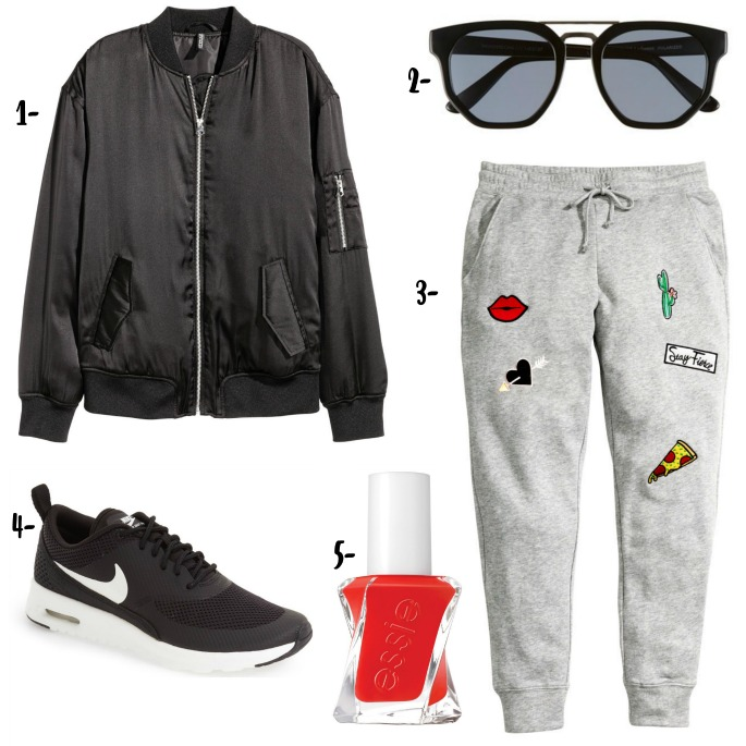 Patch Emoji Joggers | How to dress up joggers