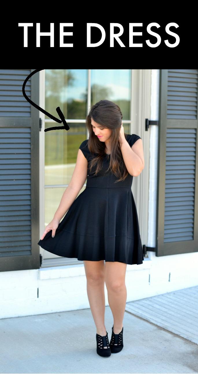 one black dress, three easy halloween costumes
