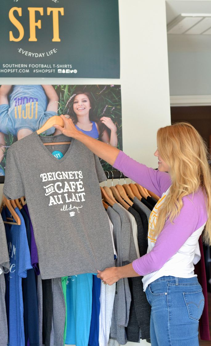 Meredith Waguespack, owner and founder of Southern Football Tees, shares a behind-the-scenes look into running this Baton Rouge, Louisiana based Tshirt company.