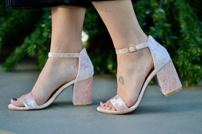 Pink Velvet Heels from Sosis - a Baton Rouge Port Allen Boutique