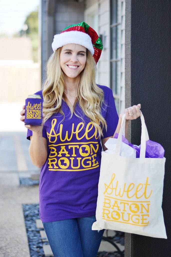 Southern Football T-shirts Holiday Gift Bags - Sweet Baton Rouge