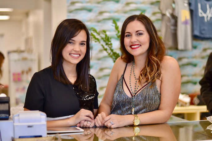 Chelsey Laborde and Annie Claire Bass - Sister owners of Sosis celebrate the grand opening of their new boutique in Port Allen, Louisiana!