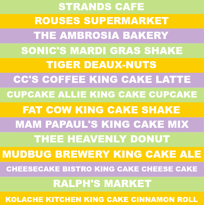 Southern Flair's King Cake Challenge! Try the best 30 King Cakes in Baton Rouge, Louisiana! How many have you had?