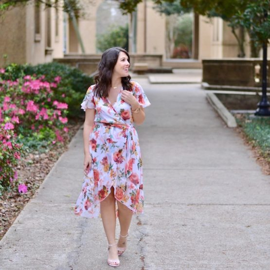 The perfect white floral dress from Nordstrom. Perfect for the Louisiana spring weather!