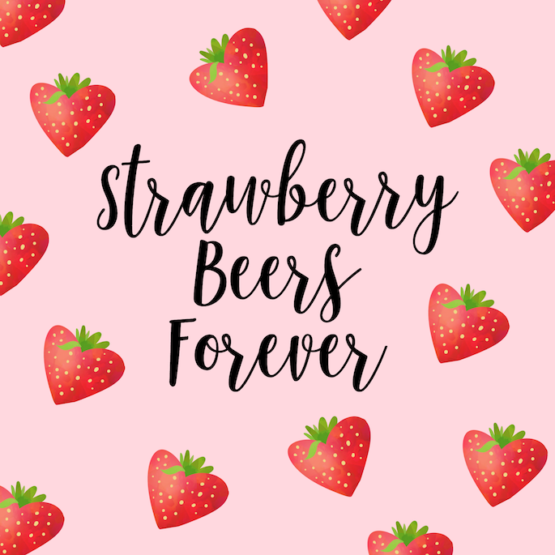 Strawberry Beers Forever Desktop Background - The Beatles meets Louisiana strawberry season! Download this freebie from Southern Flair!