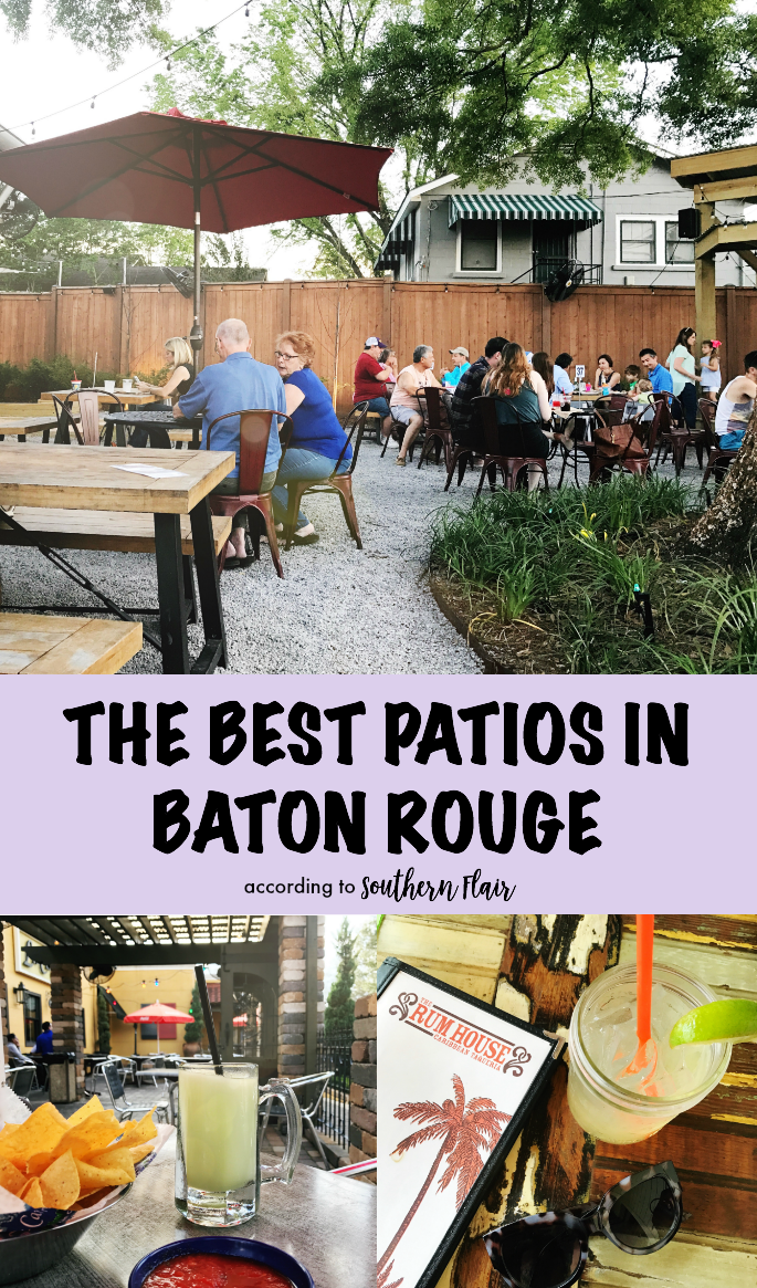 The best patios in Baton Rouge, Louisiana. My top picks for enjoying time outside on the patio of these restaurants and bars!