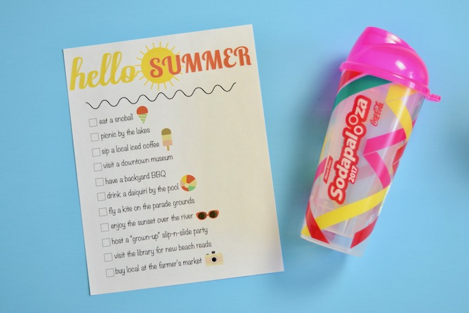 Summer Bucket List Printable - Things to do this summer in Baton Rouge, Louisiana with Sodapalooza