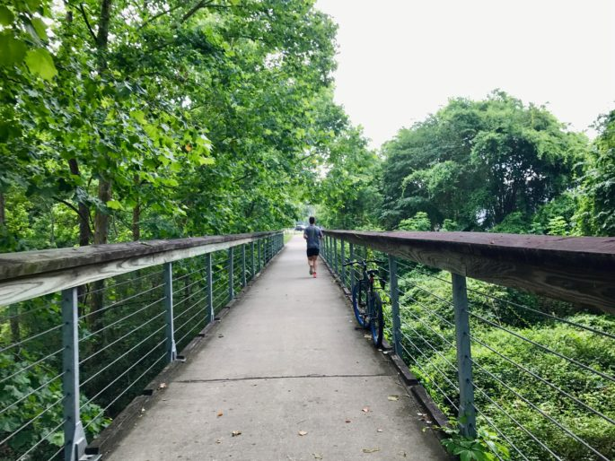 Take a morning run on the Tammany Trace with a trailhead located in downtown Covington, just a short distance from the Southern Hotel | A Weekend Travel Guide to Covington, Louisiana