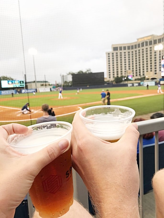 Beers at the Biloxi Shuckers baseball game | A Weekend Travel Guide to the Mississippi Gulf Coast