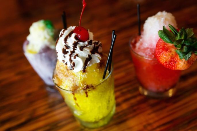 You can still enjoy an Adult Snowball at Olive or Twist. Choose from Blueberry, Cappuccino, Cookie Dough, Ice Cream Sundae, King Cake, Mint Julep, Pomegranate Strawberry, Strawberry Kiwi, Tiger Blood and Wedding Cake. All flavors are available through Labor Day!