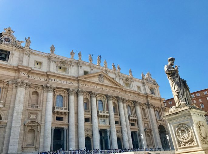 St. Peter's Basilica at The Vatican - how to make the most of your time with two days to explore Rome, Italy