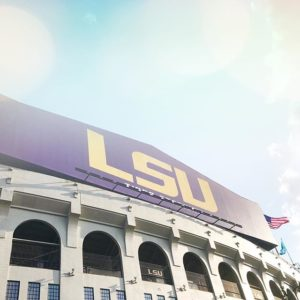 A colorful sky of LSU Tiger Stadium | Southern Flair