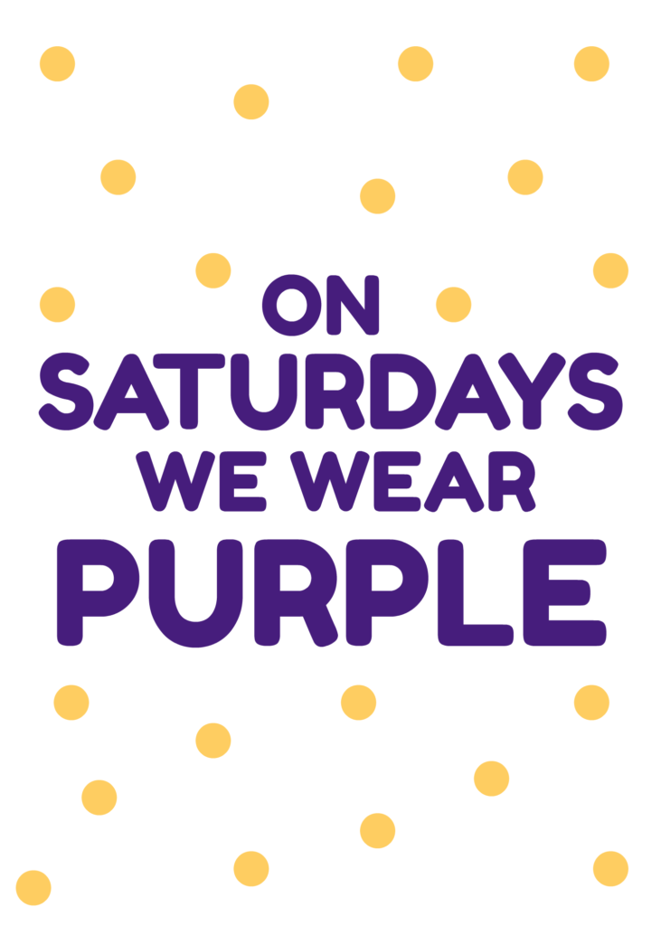 On Saturdays We Wear Purple - LSU Mean Girls Quote | Southern Flair