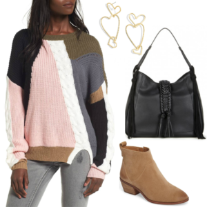 Wardrobe Wednesday - Shop this color splice sweater for fall | Southern Flair