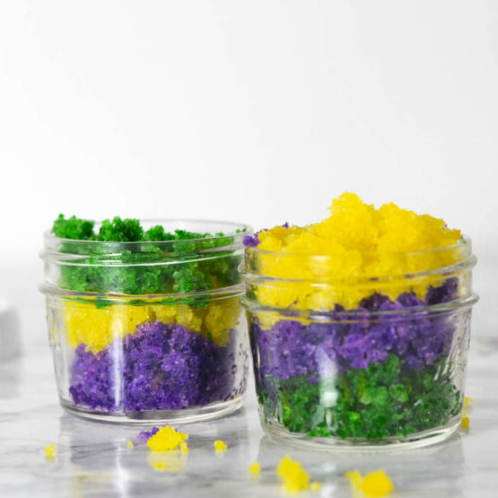 DIY King Cake Sugar Scrub - Cinnamon King Cake Scented