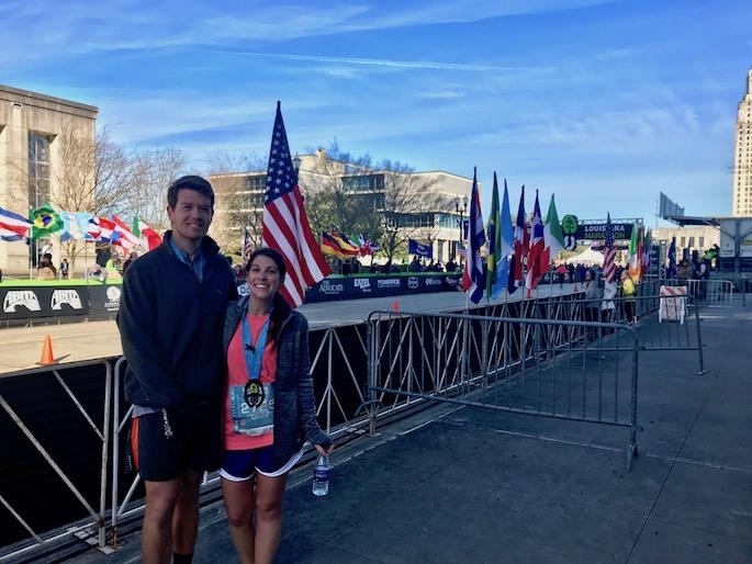 Running my first Half Marathon at the Louisiana Marathon in Baton Rouge