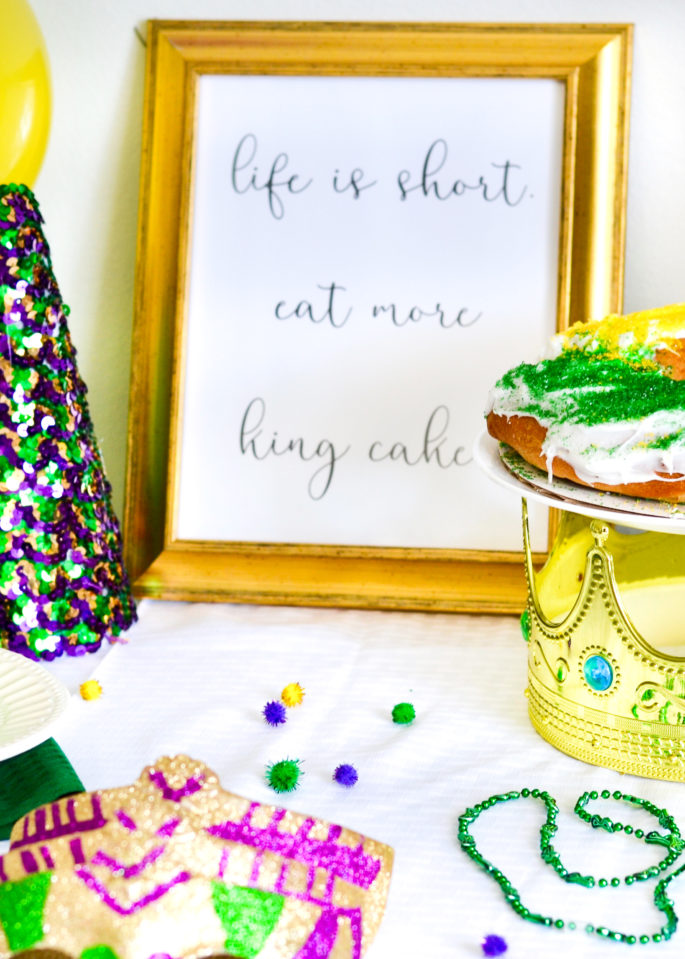 Life Is Short. Eat More King Cake Printable - Mardi Gras Printables